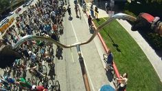 Huge bike  Built and Ridden by Richie Trimble of Los Angeles, CA at the CicLAvia 2013 event.  http://www.ciclavia.org/