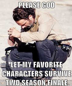My nerves are already shot. I cant suffer a loss tonight as well! Maybe tonight all the Zombies will nap and everyone will reunite! Please Please Please