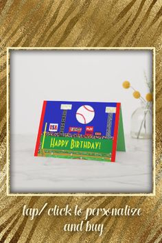 Shop Fun New Baseball Happy Birthday Card or Invitation created by customizecoolartcard. Personalize it with photos & text or purchase as is! Sports Birthday, Baseball Birthday, Sports Party, Kids Sports, Happy Birthday Cards, Gifts For Teens, Custom Greeting Cards, Thoughtful Gifts, Invitations