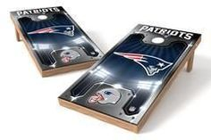 New England Patriots Single Cornhole Board - Plate