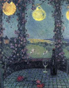 The Athenaeum - The Gazebo, Gerberoy (Henri Le Sidaner - No dates listed)