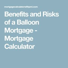 mortgage calculator with balloon