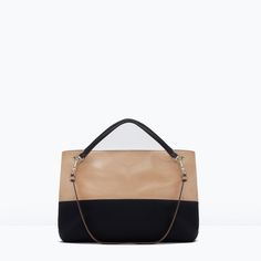 Image 1 of TWO-TONE BAG from Zara