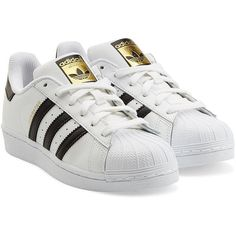 df657298bf941a Adidas Originals Leather Superstar Sneakers ($76) liked on Polyvore  featurin - Adidas White Sneakers