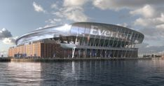 These incredible Everton stadium plans produced by architect Dan Meis show how proposed stadium at Bramley-Moore Dock could look Stadium Architecture, Legacy Projects, Soccer Stadium, Goodison Park, Liverpool City, Play The Video, Everton Fc, Football Program, Steel Buildings