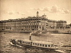 The Winter Palace, St. Petersburg. The facade from the Neva River. (1910).