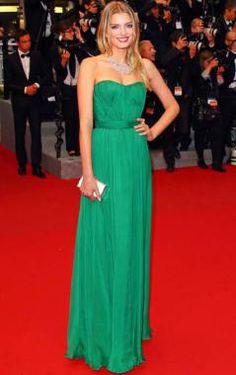2014 New Style Sheath/Column Sweetheart Chiffon Green Plus Size Prom Dresses/Evening Dress With Ruffles - Celebrity Dresses - S.