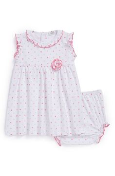Spring is here! Kissy Kissy's 'Rainbow Dots' Dress is a delightful addition to your baby girl's wardrobe