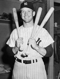 """Mickey Mantle (1931 - 1995) One of the greatest baseball players of all times. New York Yankees slugger. Entered into the Baseball Hall of Fame in 1974. Also known as """"The Mick""""."""