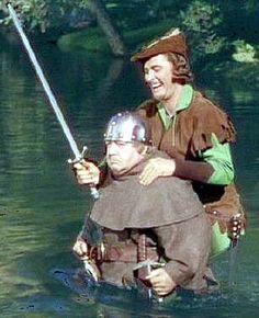 Errol Flynn - Robin Hood and Friar Tuck