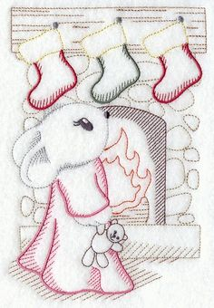 vintage christmas embroidery designs | this darling design is inspired by 1940s vintage embroidery patterns