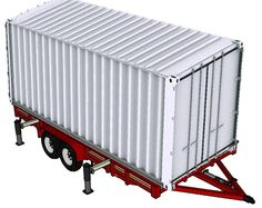 20ft container on trailer