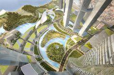 Martha Schwartz Partners - Projects - Masterplans - Yongsan