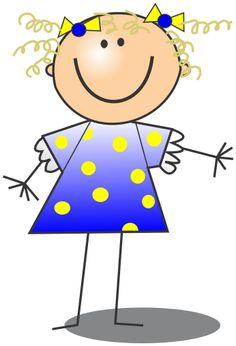 Stick Figure Girl Clip Art - Cliparts.co
