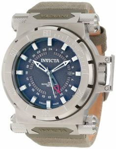 Invicta Men's 10031 Coalition Forces GMT Green Dial Green Fabric Watch Invicta. $237.19. Water-resistant to 100 M (330 feet). Flame-fusion crystal; stainless steel case; olive green canvas fabric strap. Swiss quartz movement. Olive green dial with green and white hands, silver tone hour markers; luminous; unidirectional stainless steel bezel; screw-down crown with protective clasp; gmt function. Date function