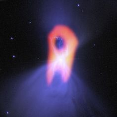The ghostly Boomerang Nebula, called the 'coldest place in the universe,' reveals its true shape in this image from the giant ALMA radio telescope.
