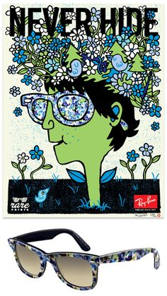 02c175bfde Rayban Rare Prints Campaign - posters - work - tad carpenter Sunglasses  2016