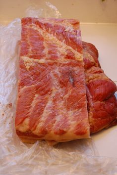 making your own smoked bacon uncut