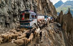 Zojila Pass, India  This high-altitude pass experiences high winds and heavy snowfall, which render it impassable for much of the winter. Even when the sun is shining, the roads are narrow, the drops are steep and there's no barrier between you and the abyss.