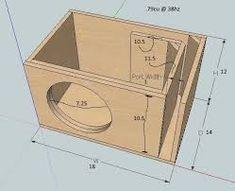 Hasil gambar untuk subwoofer box design for 12 inch speaker 12 Inch Speaker Box, Car Speaker Box, Speaker Plans, Speaker Box Design, 12 Inch Subwoofer Box, Diy Subwoofer, Subwoofer Box Design, Sub Box, Diy Speakers