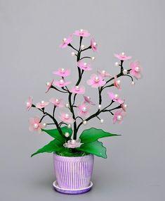 Nylon Flowers, Satin Flowers, Beaded Flowers, Diy Flowers, Fabric Flowers, Flower Pots, Paper Flowers, Christmas Night Light, Simple Christmas