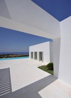 overlooking the sea, paros island #pools