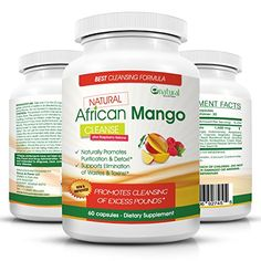 Natural African Mango Cleanse with Raspberry Ketones New Improved Miracle in a Bottle Weight Loss Diet Pills That Really Work Fast - 100% Pure Real African Mango Extract to Burn Your Fat ...