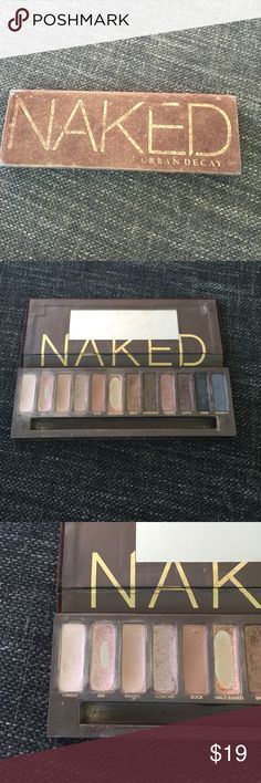 Original Urban Decay Naked Pallet Urban Decay Naked Pallet.  I have hit pan on two colors, Sin and Halfbaked.  The  colors sidecar and virgin have also been used but not that much.   All other shades are full. Urban Decay Makeup Eyeshadow