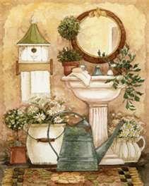 Diane Knott - bathroom print - my original art.  :-)
