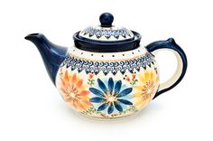 Autumn Burst Teapot - Blue Rose Polish Pottery I'm loving this pattern a lot right now!