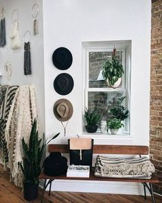 home accessory blanket bench hat macrame wall decor plants hipster home furniture #homedecorhipster