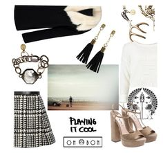 """""""playing it cool in Ohbon"""" by cranetattoo ❤ liked on Polyvore featuring Jill Stuart, Miu Miu, By Sun, women's clothing, women, female, woman, misses, juniors and ohbon"""