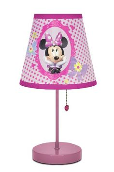 Brighten up your child's playroom or bedroom with this unique Disney Minnie Mouse Table Lamp. It requires no assembly and is ready to use. The round, plastic shade and pull chain features a unique Minnie Mouse design. Minnie Mouse Table, Minnie Mouse Toys, Minnie Mouse Room Decor, Mickey Mouse Lamp, Girl Room, Girls Bedroom, Bedroom Decor, Light Bedroom, Child's Room