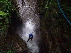 Pure Trek Canyoning Costa Rica- waterfall rappel