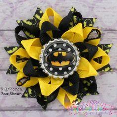 batman+flower | Batman Loopy Flower Hair Bow by PixiePretties on Etsy