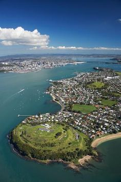 North Head, Devonport, Auckland, North Island, New Zealand - Aerial