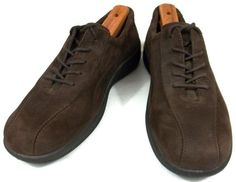 Ecco Shoes Womens Size US 7 7.5 EUR 38 Brown Leather Lace Up Oxfords #ECCO #Oxfords