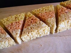 Candy corn Rice Krispie treats !!