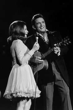 Johnny Cash & June Carter, such an iconic couple due to their love for one another and their musical capabilities