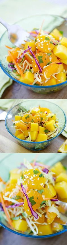 Asian Fruit Slaw – healthy, low-calorie, and delicious Asian fruit salad recipe that make you feel good every day, so light and refreshing | rasamalaysia.com