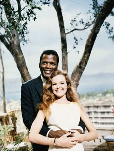 Sidney Poitier and Katharine Houghton for Guess Who's Coming to Dinner, 1967