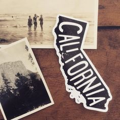 California stickers back in stock 👍🏻 #California #sticker #typography #vintagephotographs #adventure #roadtrip #ocean #map #awesomemerch #stickerdesign