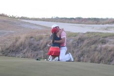 This golfing proposal was a hole in one!