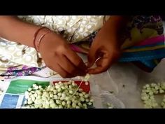 How to Make flower garland - Different Method - YouTube