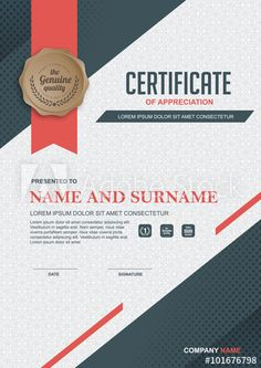 certificate template with clean and modern pattern,.Luxury golden,Qualification certificate blank template with elegant,Vector illustration
