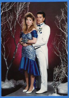 Typical 80's Prom Photo!