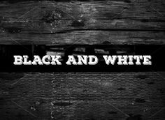 Black And White Actions for Photos  @creativework247