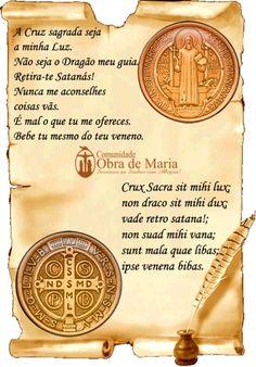 Oração São Bento. Medalha de São Bento.