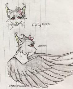 FLuffy BIRDIE !!💖💖💖✨✨// ☆Kåt☆(@otakucat17) Cute Animal Drawings, Animal Sketches, Furry Drawing, Cat Drawing, Cat Oc, Cat Doodle, Wolf Artwork, Warrior Cats Art, Art Reference Poses