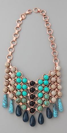 love me a statement necklace, especially one in such pretty colors